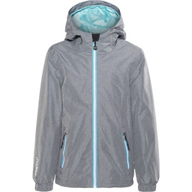 Meru Fremont Veste imperméable Fille, mid grey